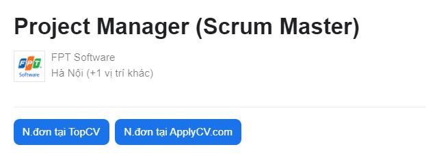 Tuyển dụng Scrum Master tại FPT