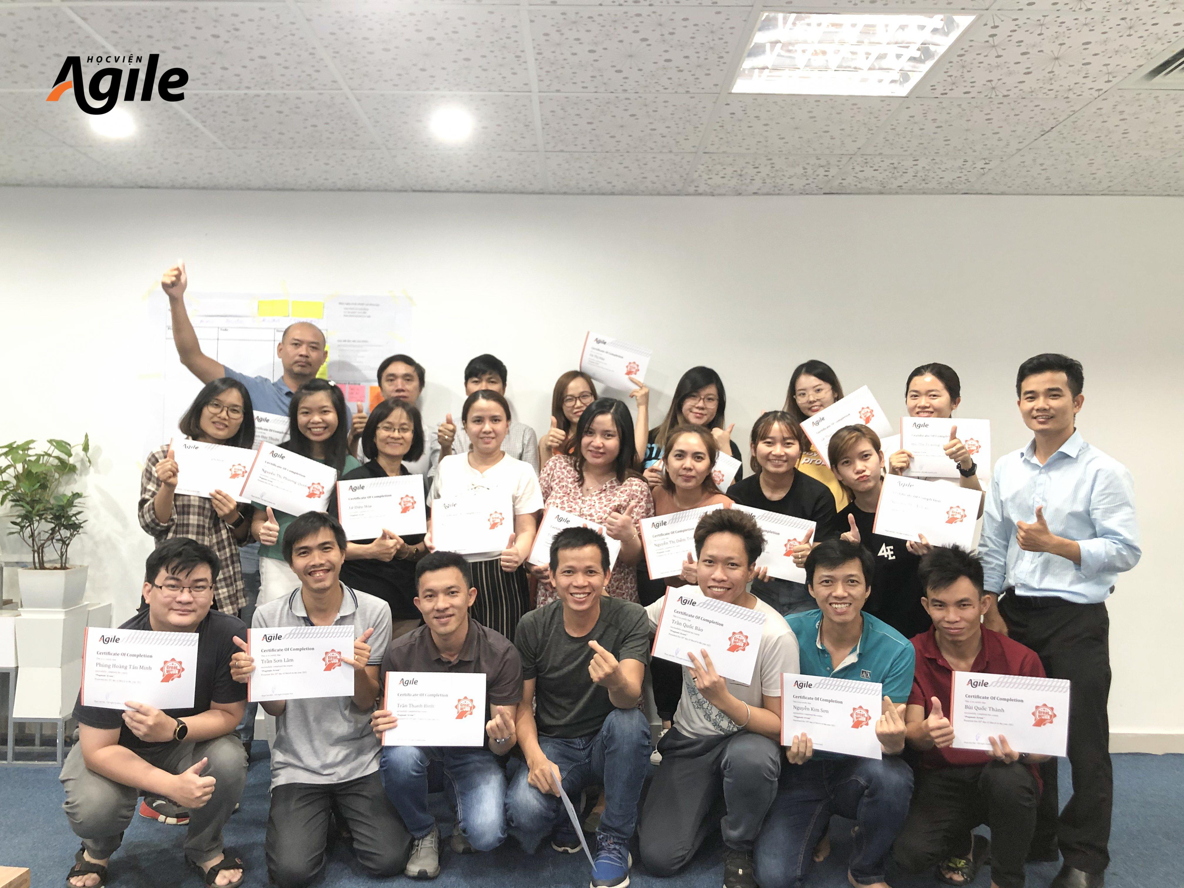 Hình ảnh đào tạo của Học viện Agile tại Tập đoàn công nghệ CMC